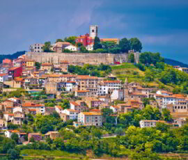 Town of Motovun on picturesque hill, Istria, Croatia.