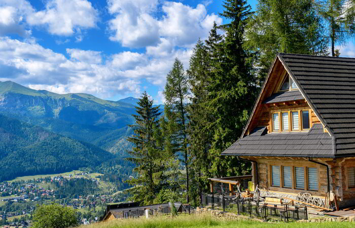 Old rural cottage in the mountains
