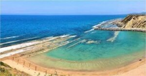 A white sand beach in Northern Cyprus