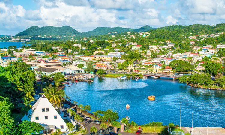 St Lucia, an island in the Caribbean
